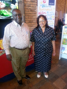 Pamela Bhanji and Albert Katagira at the Pan-African Reading for All Conference 2015