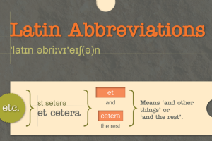 Latin abbreviations TN