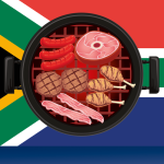 Shisa nyama on a South African Braai Grid.